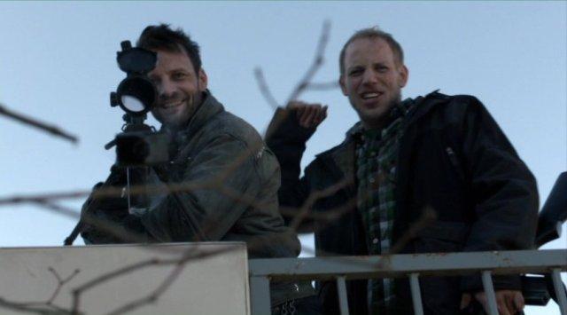 Falling Skies S2x04 - Ryan Robbins as Tector and Billy Wickman as Boon