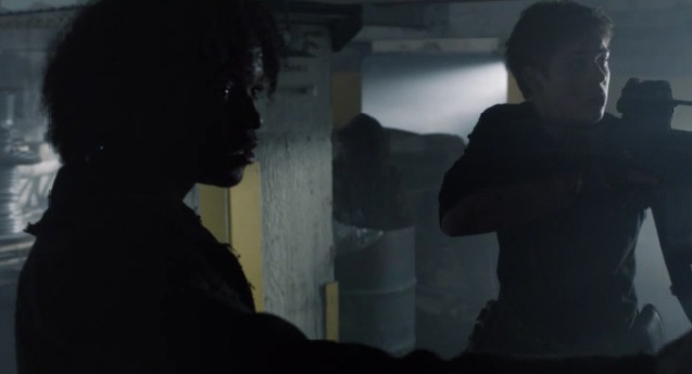 Falling Skies S2x05 Rick and Ben protecting the skitter