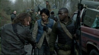 Falling Skies S2x07 - John Pope, Dai and Anthony back together again
