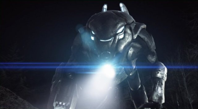 Falling Skies S2x07 - Mech Battle Bot takes aim on Internet prirates