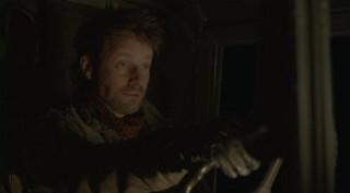 Falling Skies S2x08 - Ryan Robbins as Tector on a ride with Will Patton as Captain Weaver