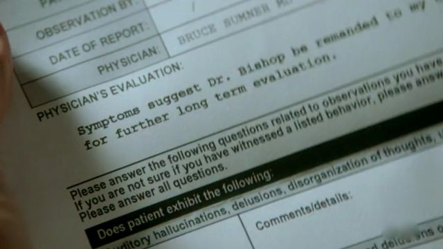 Fringe S4x04  Subject 9 - Walter's Evaluation letter