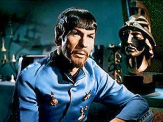 Mirror Mirror with the alternate Mr Spock