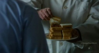 Fringe S4x16 - Peanut butter and bacon sandwiches