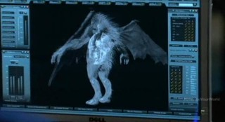 Fringe S4x16 - Peter observes the creature can fly
