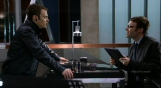 Fringe S4x17 - Lincoln and Alt-Lincoln discuss their lives