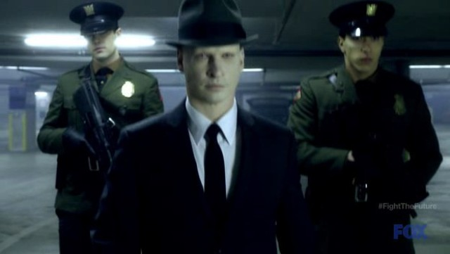 Fringe S4x19 - Observer and team of Loyalists invade Massive Dynamic to get hold of Walter, Simon and Etta