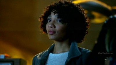 Fringe S5x03 - Astrid says SHOCKER when they learn Walter's tapes are not in sequence