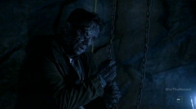 Fringe S5x03 - Edwin Massey is petrified after mining the mineral