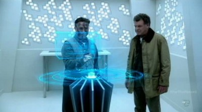 Fringe S5x03 - Walter and Edwin at the crystalline memory device reader