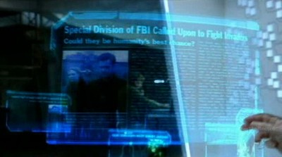 Fringe S5x03 - Walter and Edwin examine Fringe history at the crystalline memory display device