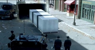 Fringe S5x05 - White Boxes from the future via wormhole