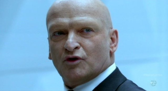 Fringe S5x11 - Captain Windmark  is asked is there is something wrong with him by The Observer Commander