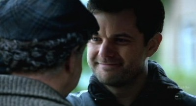 Fringe S5x11 - Peter smiles lovingly at Walter on their search for September