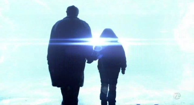 Fringe S5x13 - Walter and Michael step through the wormhole bound for 2167