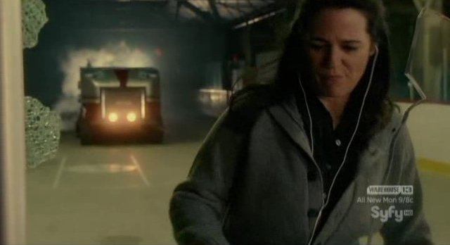 Haven S2x03 - Zamboni aims for Marcia at the ice rink