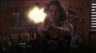 Haven S4x02 - Lexie takes and and fires like the pro that she is