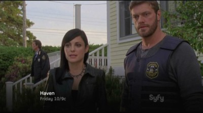 Haven S4x03 - Jordan and Dwight wonder what and who the hell it is