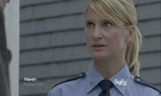 Haven S4x06 - Officer Rafferty is on hand to see the frozen stiff