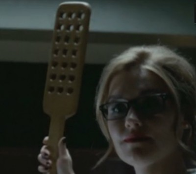 Haven S4x07 - Dreaming a lesson Nathan will never forget Audrey raises the paddle for a school teacher dominatrix session