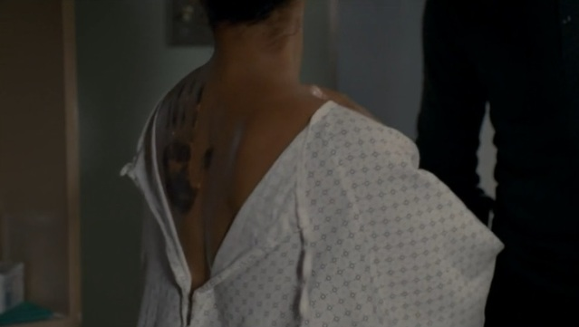 Haven S4x07 - The mark of The Troubles on Carrie Bensen that only Lexie Audrey can see
