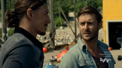 Haven S4x08 - Duke and Jack Driscoll discuss how and why the Teagues got the bends