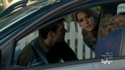 Haven S4x08 - Nathan Lexie Audrey and Gloria look for Troubled person clues about who else was in the car