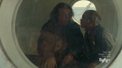 Haven S4x08 - Vince and Dave drunk as skunks in decompression chamber from the bends after high pressure wave