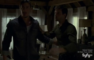 Haven S4x09 - Duke arrives after Heavy from Wormhole bar barn escaped
