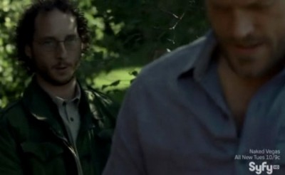 Haven S4x09 - Sinister Man about to knock out and kidnap Dwight