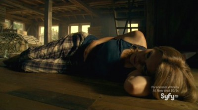 Haven S4x10 - Audrey awakes alone in the atic of an abandoned building that was The Grey Gull