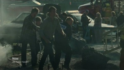 Haven S4x10 - Nathan at The Troubled volcano accident scene