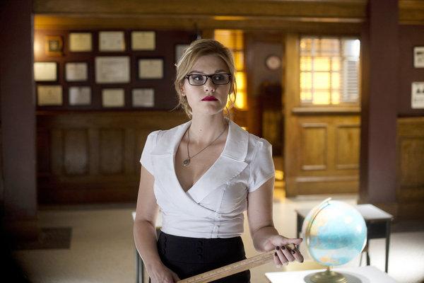 Haven S4x07 - Emily Rose as school teacher dominatrix