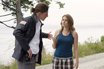 Haven S4x10 - Duke tells Audrey to get in the Haven Police SUV