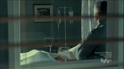 Haven S4x11 - William self healing in the hospital while under guard