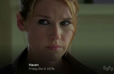Haven S4x12 - Audrey faces the deadly truth she must give Duke his Trouble back to save baby Aaron Harker and Haven