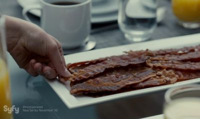 Incorporated S1x01 Ben and Laura eat bacon for breakfast