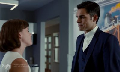 Incorporated S1x01 Ben with Laura at their luxurious home