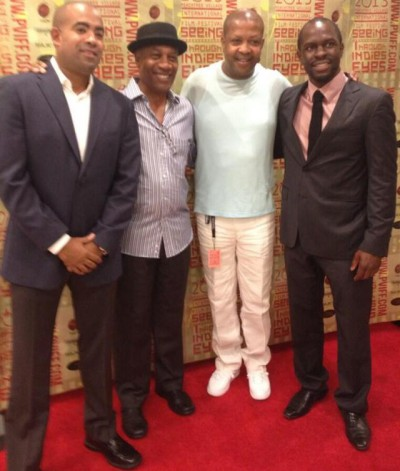 Home - The Men of Home Cast and creators Jono Oliver, Joe Morton, James McDaniel, Gbenga Akinnagbe - Image courtesy Jono Oliver Twitter feed