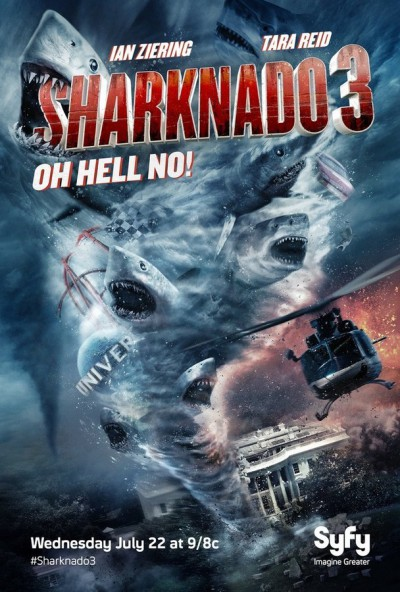 Sharknado 3: Oh Hell No! - Click to follow SharknadoSyfy on Twitter!