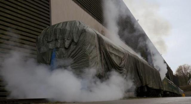 Primeval New World 01x04 smoke coming out of the train