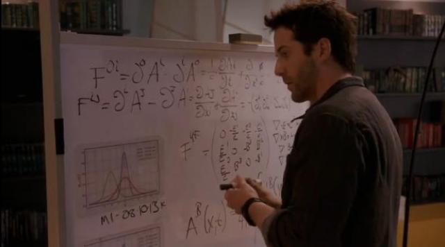 Primeval New world 01x04 Evan corrects math