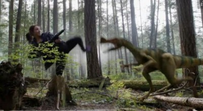 Primeval New World S1x07 Ange kicks the dino with disasterous results