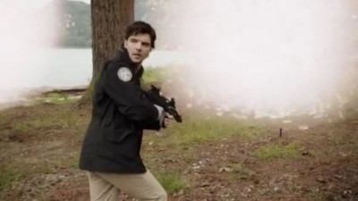 Primeval New World S1x13 - Connor finds signs of humans in the past