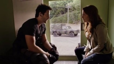 Primeval New World S1x13 - Evan and Ange have a chat about what to do