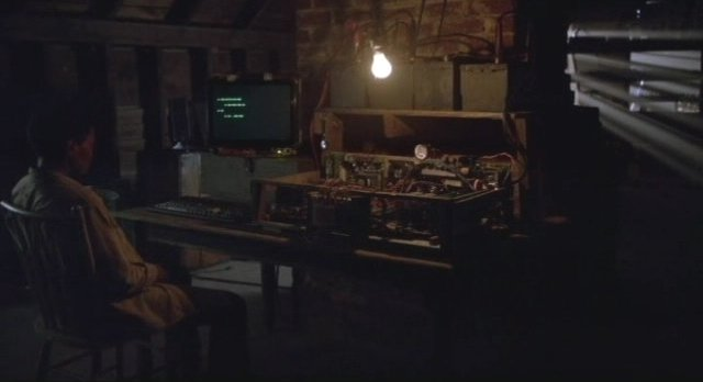 Revolution S1x01 - Maria Howell as Grace with secret computer