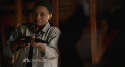 Revolution S1x01 - Maria Howell as the enigmatic Grace