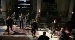 Revolution S1x01 - Monroes bad guys prepare to attack Uncle Miles