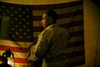 """Revolution S2x04 - Neville has infiltrated the Patriot organization  """"Patriot Games"""" Episode 204 -- Pictured: Giancarlo Esposito as Major Tom Neville -- (Photo by: Felicia Graham/NBC)"""