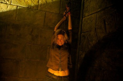 """Revolution S2x04 - Rachel is strung up by Ken to be murdered """"Patriot Games"""" Episode 204 -- Pictured: Elizabeth Mitchell as Rachel Matheson -- (Photo by: Felicia Graham/NBC)"""
